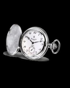 BÜREN Savonnette Taschenuhr, Palladium - ø 48 mm