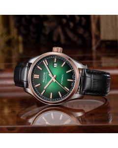 EPOS Passion 3501 Herrenuhr bicolor, silber, schwarz, blau, grün, Ø 41 mm