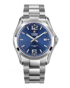 "Le Temps of Switzerland ""Sport Elegance"", blau - Ø  40,5 mm"