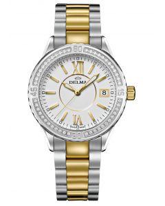 DELMA - Cambio Diamonds - Damenuhr mit Wechsellünette mit 48 Diamanten -   Ø 32 mm