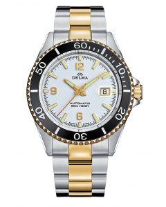 DELMA - Santiago, gents watch, white bicolor Ø 43 mm