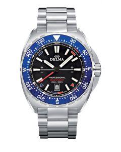 DELMA - Oceanmaster black/blue, 44 mm