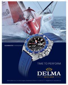 DELMA - Oceanmaster Chronograph, black/blue - Ø 44 mm