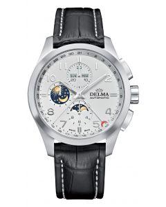DELMA - Chronograph KLONDIKE Mondphase weiß,  Ø 44 mm
