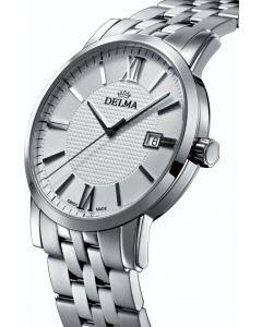 DELMA - Herrenuhr CORDOBA weiß - Ø 40 mm