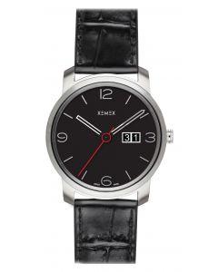 XEMEX - Piccadilly Herrenuhr Großdatum, schwarz Ø 42 mm