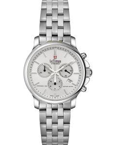 "Le Temps of Switzerland ""ZAFIRA"" - Chronograph, white"