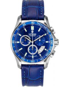 "Le Temps of Switzerland  ""TRIATHLON"" - Chronograph blue, - Ø 40 mm"