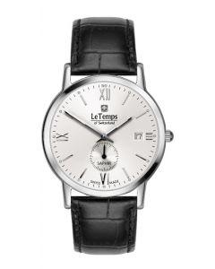 "Le Temps of Switzerland Herrenuhr ""ZAFIRA""  Elegance, kl. Sekunde Ø 38 mm"