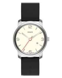 XEMEX - Piccadilly Herrenuhr, weiß Ø 42 mm